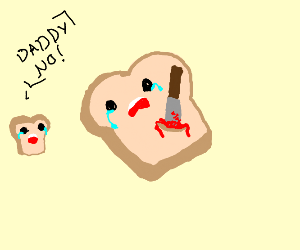 Knife in bread