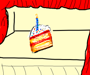 birthday cake on a stage