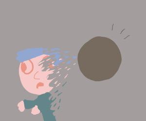 Sucked into a Black Hole