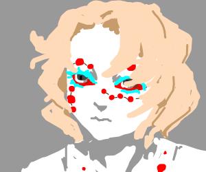 sad demon boy