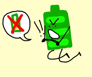Batteries protest against recharging