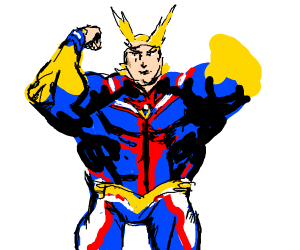All might with Jotaro's face