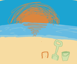Sandcastle and Sunset