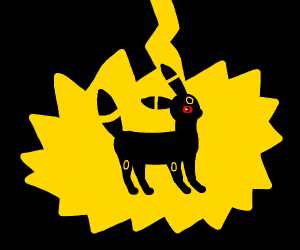 umbreon getting struck by lightning