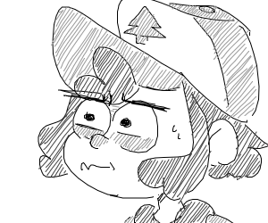 that cap guy from gravity falls is frightened