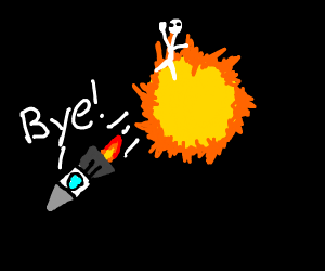 Rocket leaves man on the sun