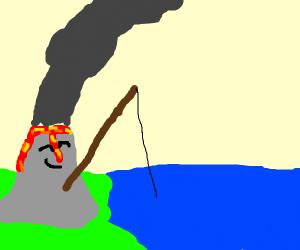 a fishing volcano