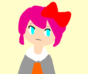 Pink-haired girl from Doki Doki literature cl