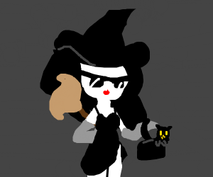A Witch wearing designer accessories