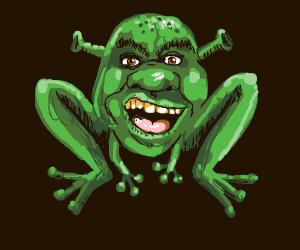 Shrek but he's a frog