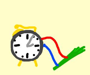 Alarm clock powered by celery