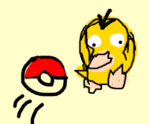 psyduck WILL, be caught