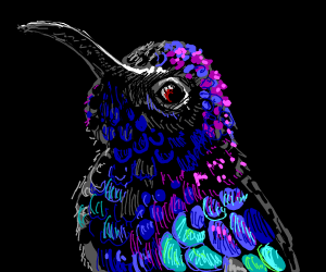 Beautiful drawing of hummingbird!!
