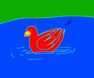 A red duck