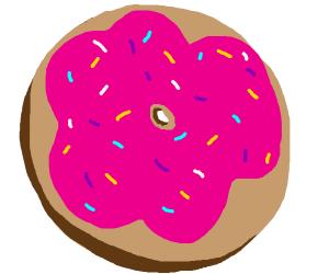 a donut that is big sad