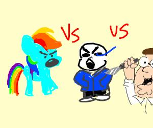 Rainbow Dash vs Sans vs Peter Griffin