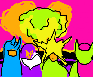 Me and the boys in a nuclear explosion