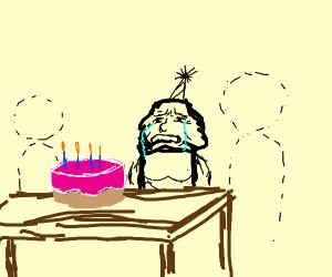 Guy sad no one wished him a happy cake day