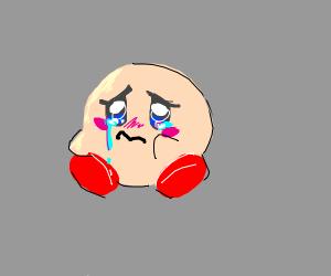 A sad Kirby