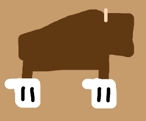 Bison wearing Gloves