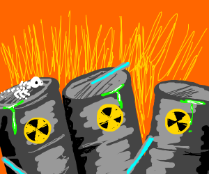 A lot of nuclear waste
