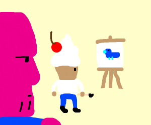 Thanos watches some sweet blue duck Art