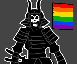 homosexual skeleton samurai