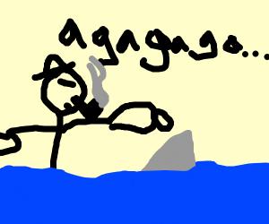 Popeye crossing the Ocean