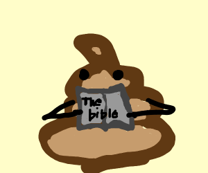 poop reading a book