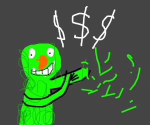 Elmo's green cousin, Sellmo