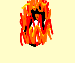 burning penguin