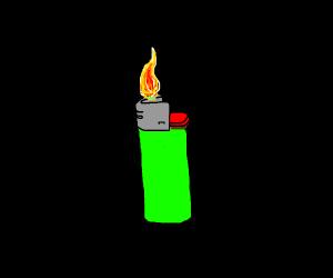 Lighting a lighter