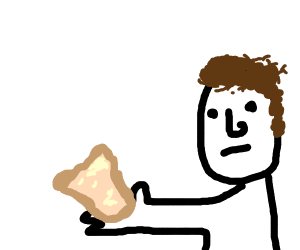 Man holds bread
