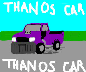 IT'S THE THANOS CAR!