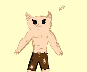 weird flesh demon dude