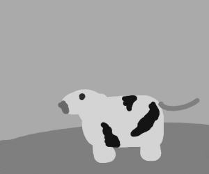 An abstract cow
