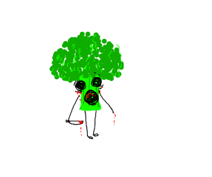 very scary broccoly