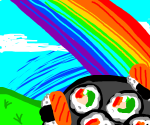 Sushi at the end of rainbow (better than gold