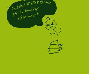 Stickman saying gibberish