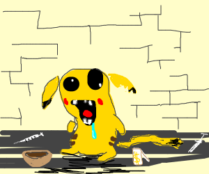 pikachu if he was on crack