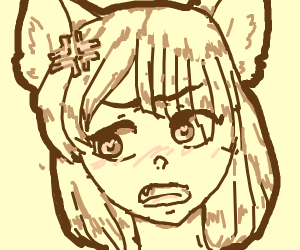 Angry anime cat-girl