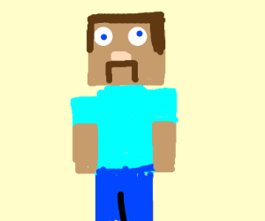 Minecraft dude is angry