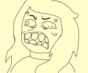 Silent Seething Rage Woman