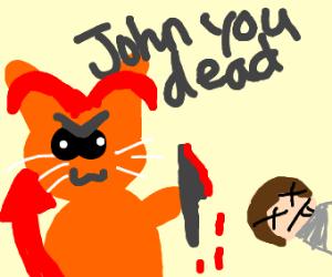 Garfield becomes a demon and kills Jon
