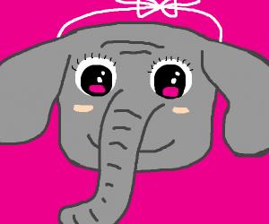 Cute elephant mask!