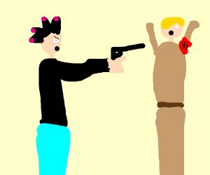 punker killing a nazi