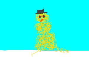 spaghetti  snowman