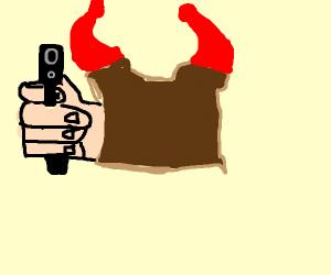 Demon toast holds u at gun point