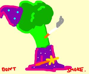 Broccoli Wizard smoking