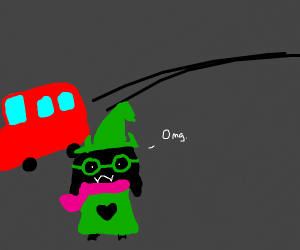Ralsei almost gets hit by a car